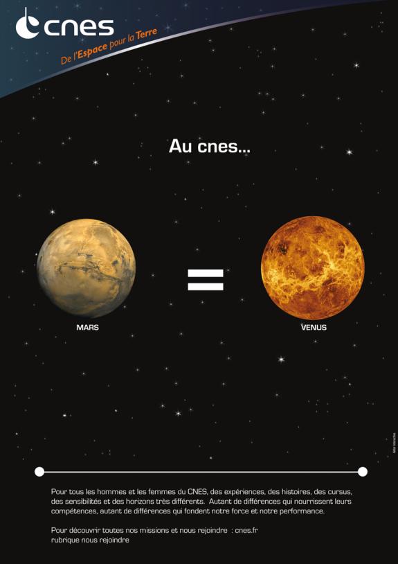 Au CNES, Mars = Venus. Crédits : CNES.